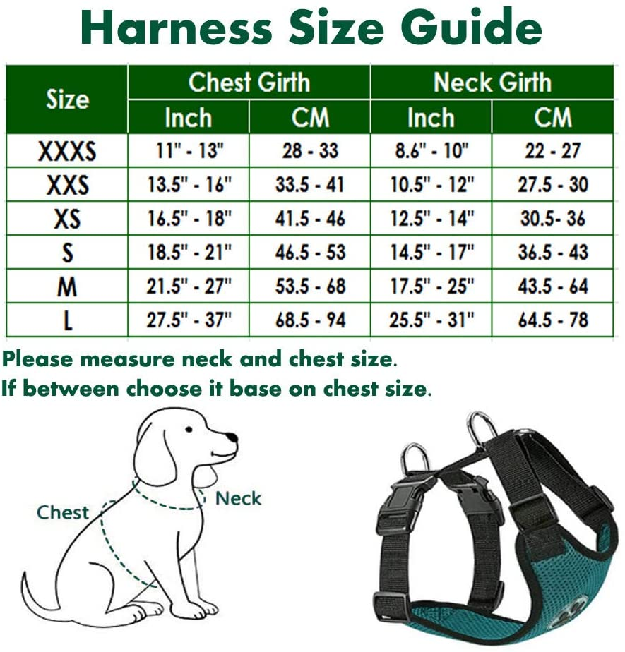 Dog Car Harness Size Guide